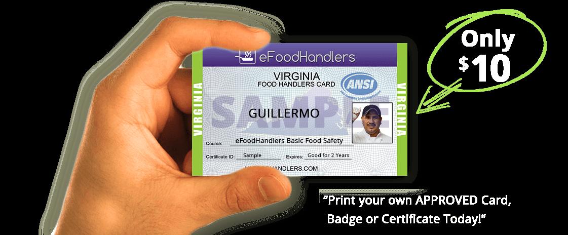 Virginia Food Handlers Card Efoodhandlers 10
